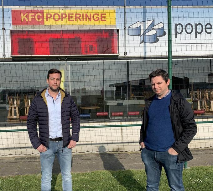 Mental coach Maarten Verbeke en voorzitter Kristof Lobeau.© LB