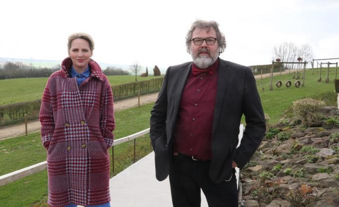 Maaike Cafmeyer en Yves Bondue spelen een belangrijke rol in de promofilm.© EF
