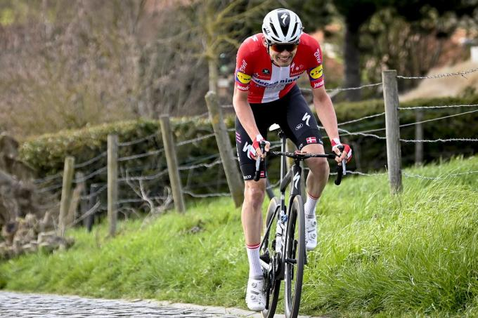 Kasper Asgreen (Deceuninck - Quick-Step) krijgt zondag rust.©DIRK WAEM BELGA