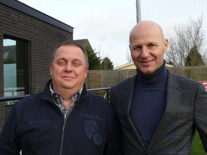 Ex-voorzitter Carlo Matthys en huidig preses David Gailliaert werken al heel lang vlekkeloos samen. (foto JPV)
