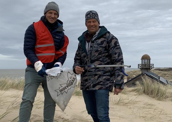 Initiatiefnemers Frank Van Leenhove en gemeenteraadslid Antoine Geerinckx.© (Foto DM)