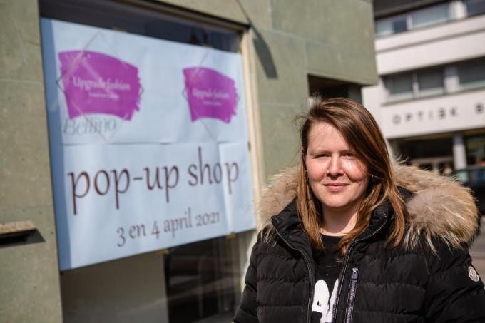 Esther De Soete opent een pop-up shop op 3 en 4 april in de voormalige herenkledingzaak Bellino in de Dorpsstraat 148.© Davy Coghe