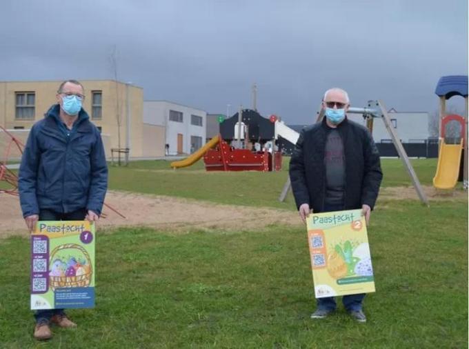 We zien Marc Denys en Jean-Luc Vanoost van KWB Poperinge.© GF