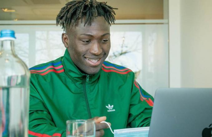 Kévin Denkey is één van de vijf spelers die aan het initiatief deelneemt.© Cercle Brugge