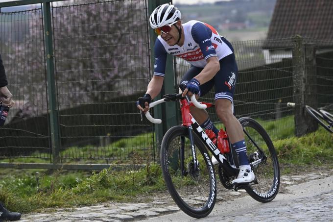 Jasper Stuyven van Trek-Segafredo, hier nog tijdens EE3 Saxo Bank Classic op 26 maart.© Belga / Dirk Waem