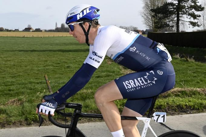 Sep Vanmarcke moest al opgeven tijdens Gent-Wevelgem.©DIRK WAEM BELGA /