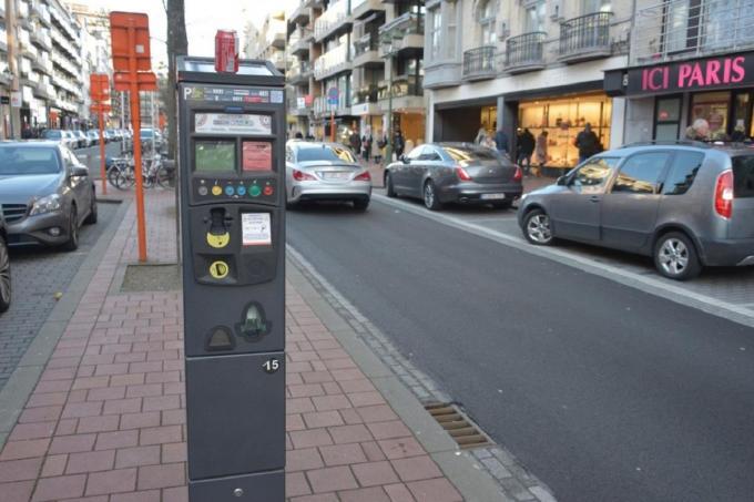 In de groene zone mag je tot en met vrijdag gratis parkeren.© DM