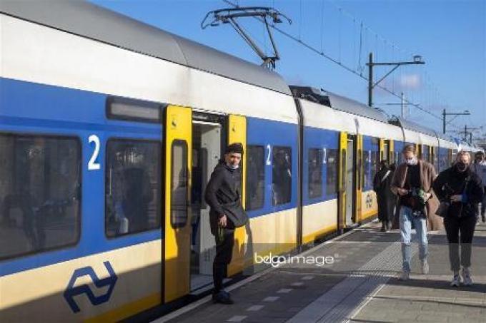 Voorlopig is het iets minder druk op de treinen richting kust.© Belga
