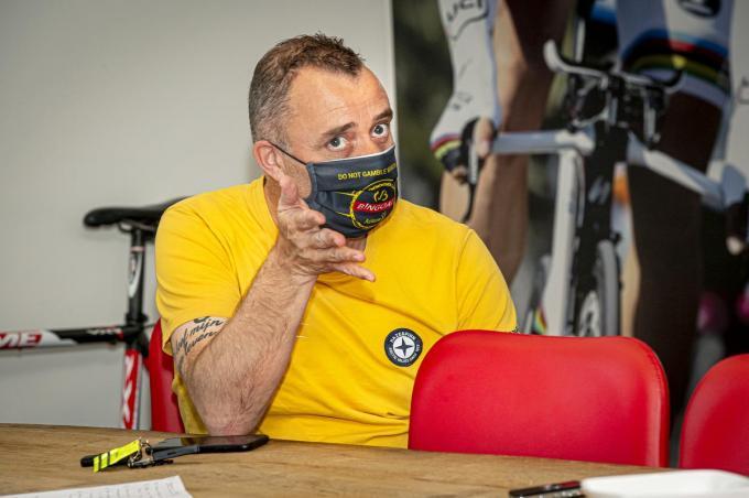 "Johan Molly en Patrick Lefevere: ""Florian Sénéchal mag de Ronde winnen. Hij verdient dat.""©JOKE COUVREUR"