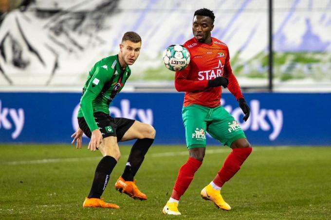 Cercle en KV Oostende speelden in februari tegen elkaar in de Beker van België.© BELGA