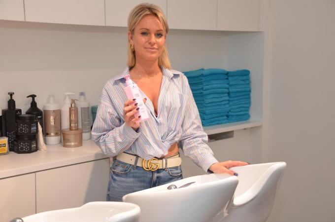Jennifer Depoortere, zaakvoerster van kapsalon Imajening hairdesign.© BRU