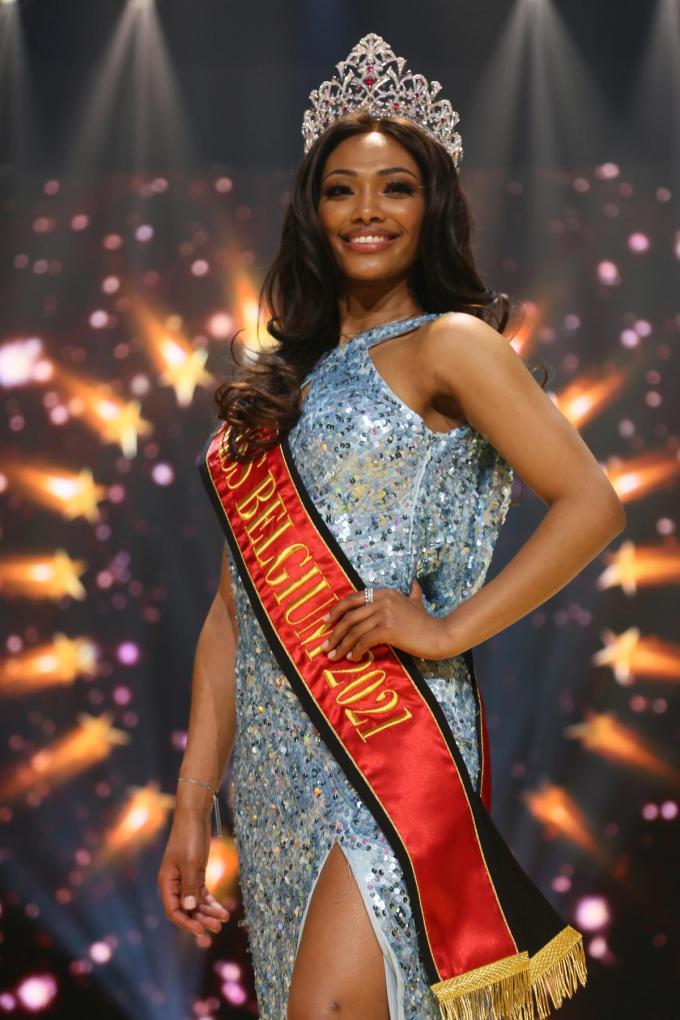 Kedist Deltour veroverde het kroontje van Miss België.© Kevin Swijsen/Belga