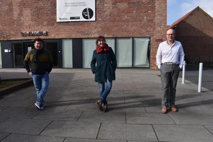 We zien v.l.n.r. Valentijn Despeghel, Sylvie Marie en Nico Logghe.© TOGH