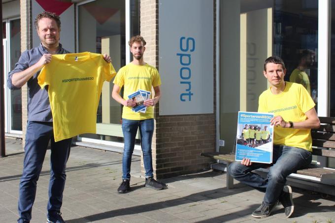 Schepen voor Sport Frederik Sap, Cedric Devos en Kristof Devriendt willen de inwoners van Hooglede aan het sporten krijgen.© JT