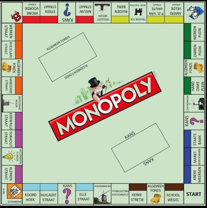 De inwoners konden toch even dromen van een eigen Monopoly-spel.© gf