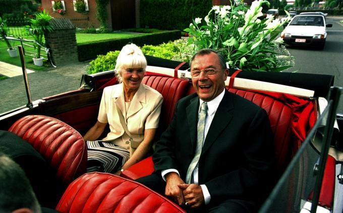 Feest van de burgemeester in 2005. Burgemeester Denys samen met zijn vrouw Rosa. (foto SB-©STEFAAN BEEL STEFAAN BEEL