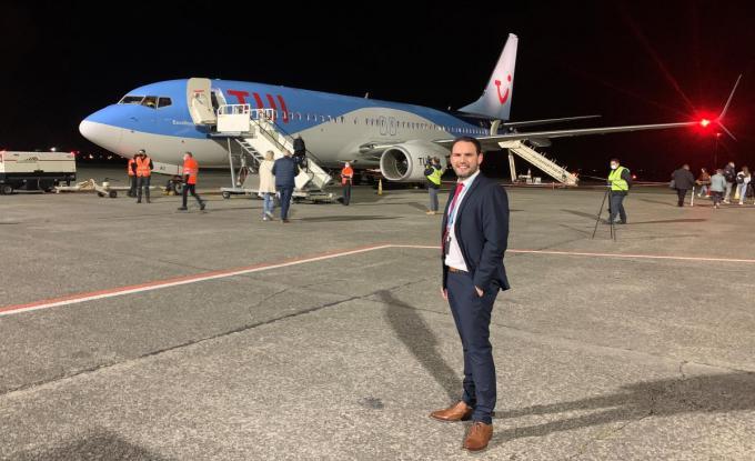 """Dieter Bruneel (directeur operaties TUI fly): """"Een stap in de geleidelijke heropstart van het vluchtplan.""""© PBM"""