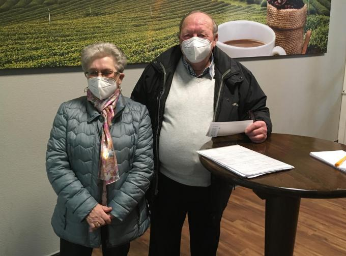 Margriet Vandewiele en Johny Verbrugge.© PBM