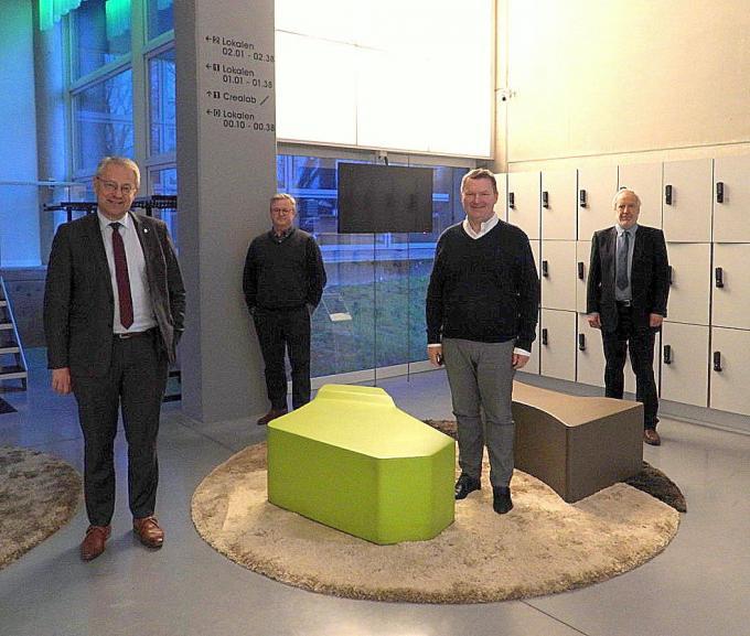 Piet Desmet, Carl Devos, Joris Hindryckx en Lode De Geyter.©Picasa