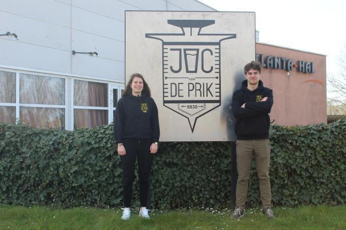 Febe Vanoverschelde en Joran Hoste zijn klaar voor een digitale 66 uren. (foto JT)