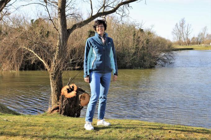 Greet Benoot kreeg haar leven weer op de rails door haar band met de natuur.©Myriam Van den Putte