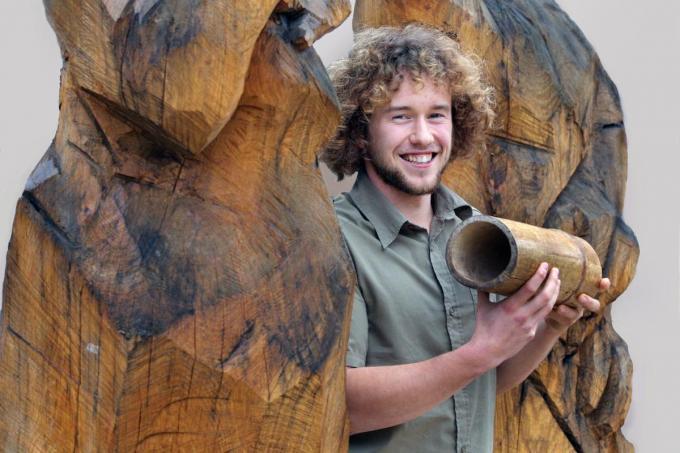 Pieter Loose anno 2004, toen hij als jonge idealist vanuit Torhout bamboewoningen ging bouwen in Brazilië.©Johan Sabbe Johan Sabbe