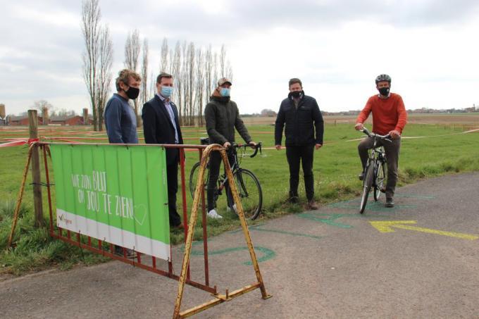 Na de pop-up cycloparcours komt er vanaf volgend jaar een permanent cycloparcours in Wingene.© WS