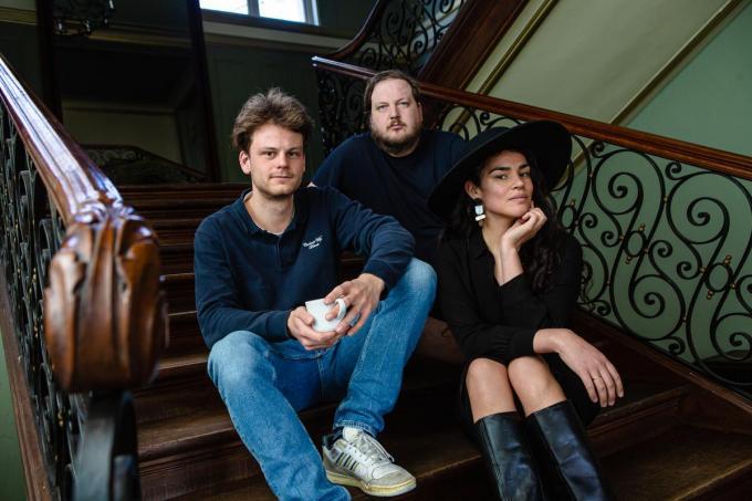 Sibren Lagauw, Maarten Vandewalle en Carolina Mosquera. (foto Davy Coghe)© Davy Coghe