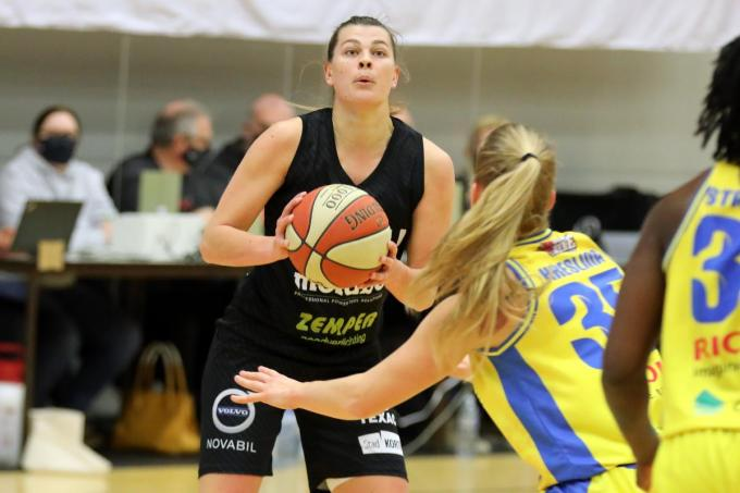 Sien Devliegher is best tevreden met de prestaties van haar ploeg.© EL