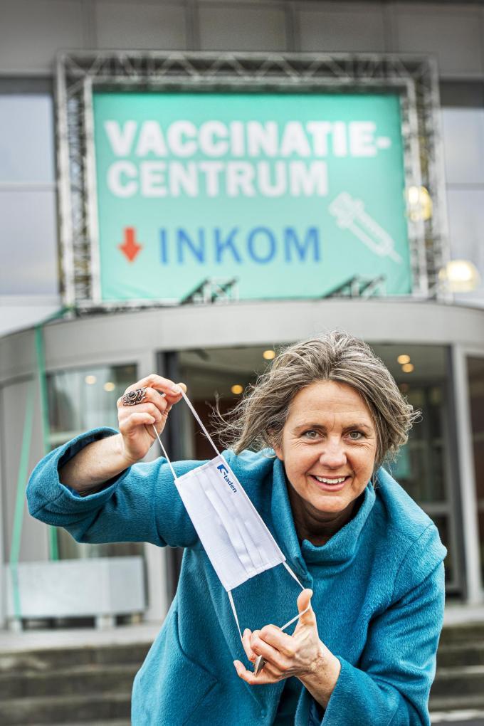 """Chantal Huyghe: """"Je laten vaccineren is een vorm van solidariteit.""""© foto Joke"""