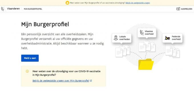 Online kan je via je identiteitskaart het Burgerprofiel consulteren.© gf