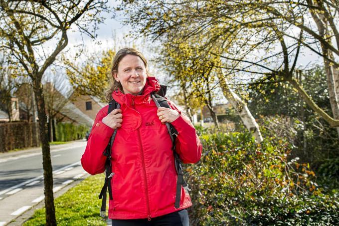 Griet Desmet is klaar voor een wandeltocht van 100 kilometer.©JOKE COUVREUR JOKE COUVREUR