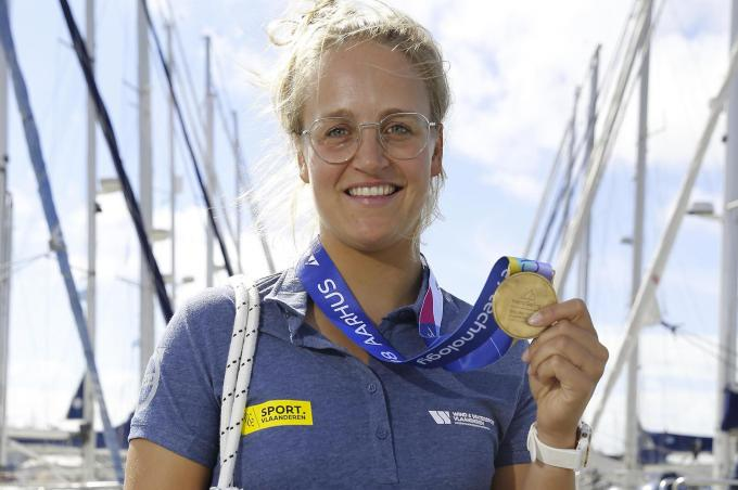 Ook Emma Plasschaert is klaar voor olympisch eremetaal in de Laser Radial-klasse.© BELGA