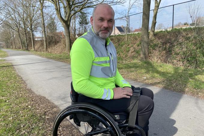 In 2016 verloor David Werkbrouck in zeven maanden tijd door een spierziekte alle kracht in zijn benen. Maar David is er mentaal weer helemaal bovenop.© KVdm