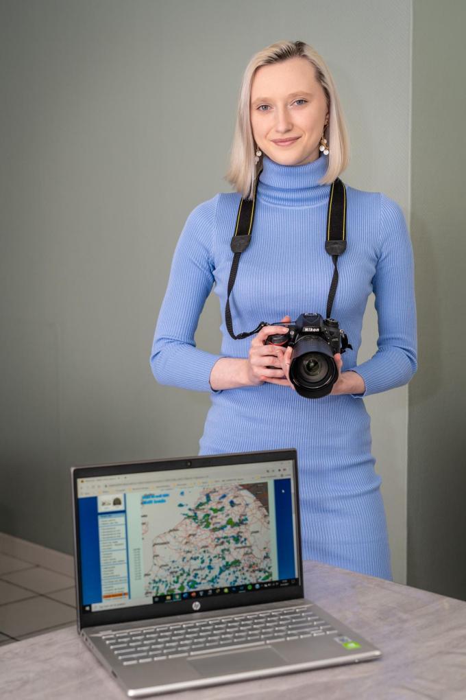 Jaëlle Verhulst wil professionele fotografe worden.© Kurt De Schuytener
