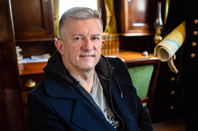 """Miguel Vandenbouhede in de Mercator: """"Ik heb het schip zeker al tien keer bezocht. Als het weg is, mis ik het.""""© Davy Coghe"""