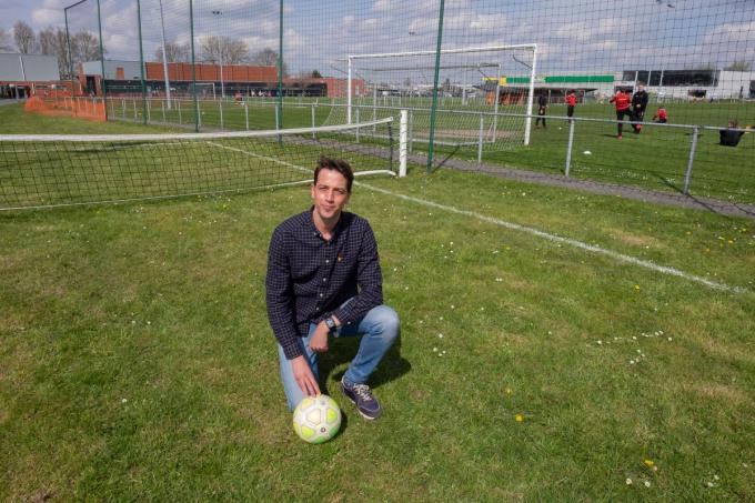 Schepen Klaas Verbeke op de sportzone.©MICHAEL DEPESTELE