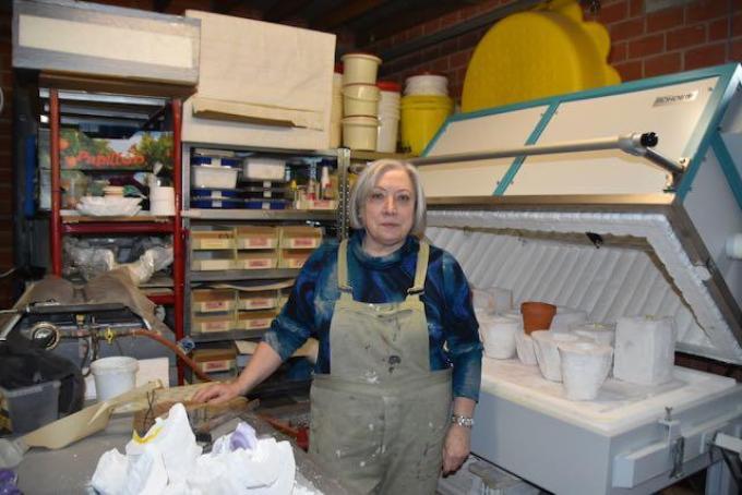Mady Herman in haar atelier.©ELS DELEU
