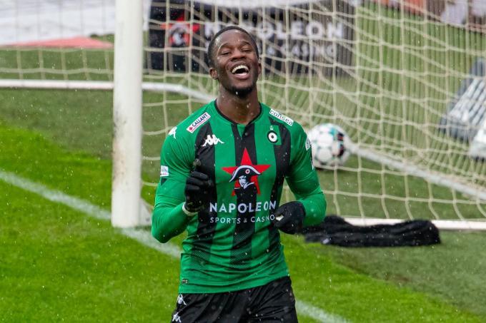 Ike Ugbo scoorde twee van de drie goals.©KURT DESPLENTER BELGA
