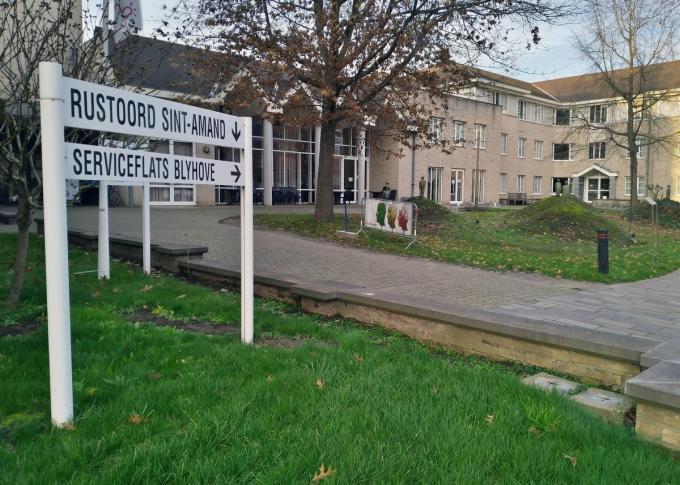Het woonzorgcentrum ontvangt tot volgende week vrijdag geen bezoek meer.© GV