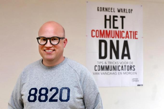 Torhoutenaar Korneel Warlop (37): blij met zijn boek over communicatie dat op 27 mei verschijnt.©Johan Sabbe