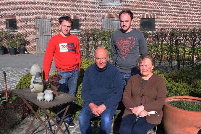 Het gezin van Luc Gryson en Christine Baelde.©Robert Barthier
