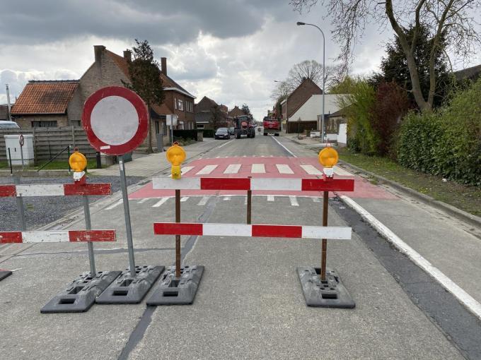 De Beverenstraat krijgt een verhoogde oversteekplaats.© DRD