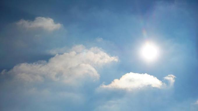 Aan de kust wordt een zonnig weer.© gf