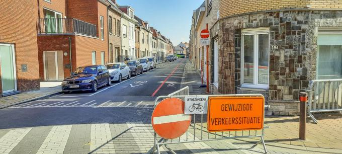 In de Leopoldstraat is het eenrichtingsverkeer met de invoering van de fietsstraat omgedraaid.© LVW