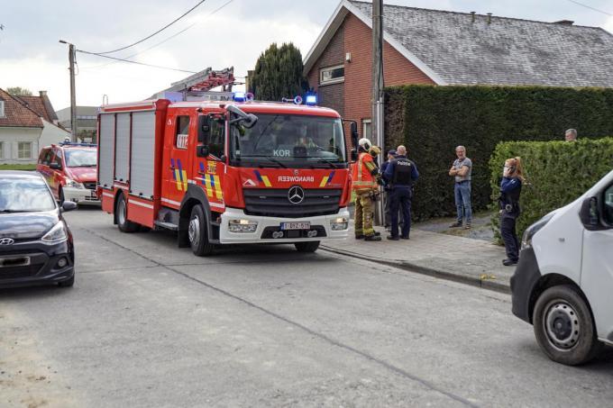 Toen de brandweer ter plaatse kwam, was er van vuur geen sprake.© CL