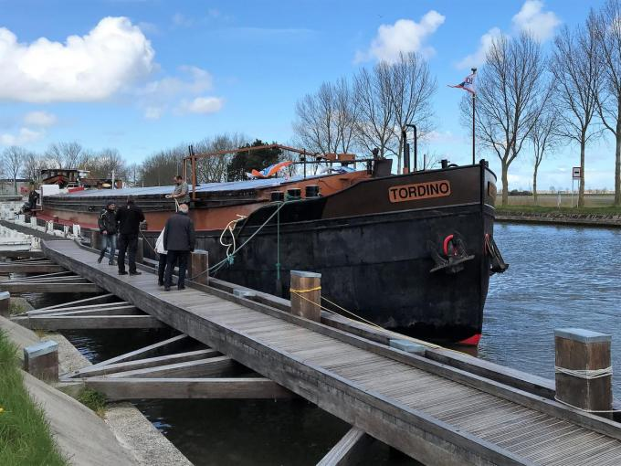 Het museumschip Tordino gaat midden mei open voor het publiek.© lin
