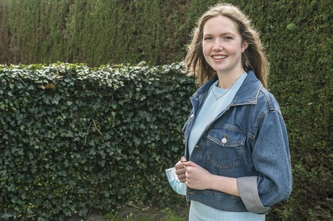 Laurien Declercq wint Zonta Award voor haar sociale stage bij Babbeloe. (foto SB)©STEFAAN BEEL Stefaan Beel