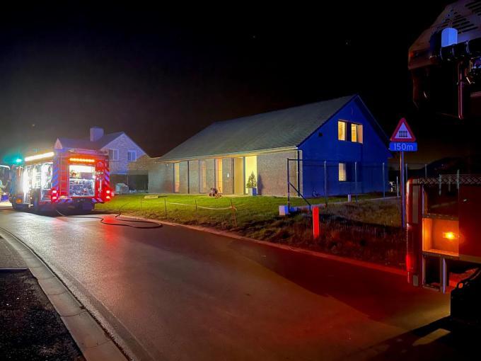 De brandweerinterventie duurde niet zolang.© JV