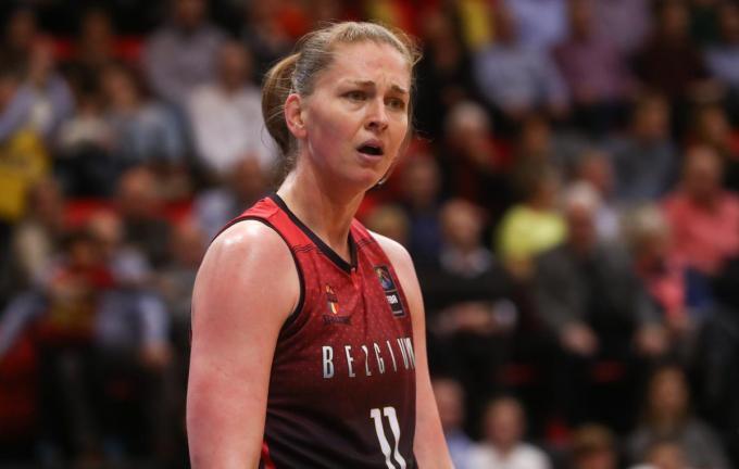 Belgian Cat Emma Meesseman maakt met haar ploeg Jekaterinenburg jacht op vierde titel in Final Four.©VIRGINIE LEFOUR BELGA